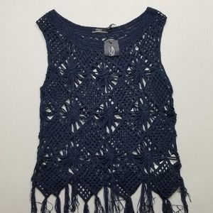 Silver jeans co. Crocheted top NWT